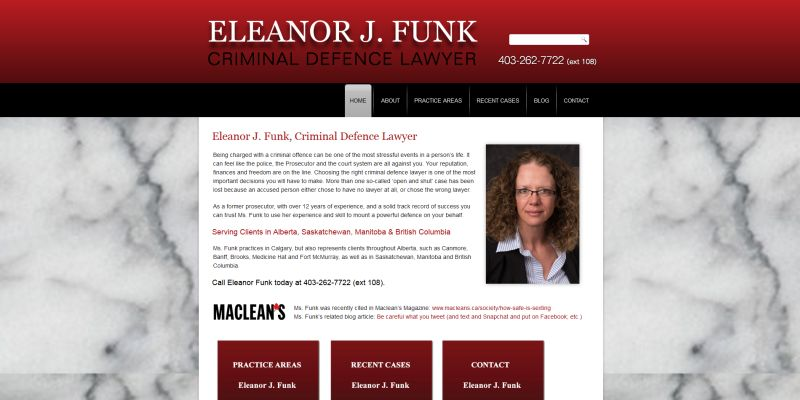 Eleanor J. Funk - Calgary Defence Lawyer