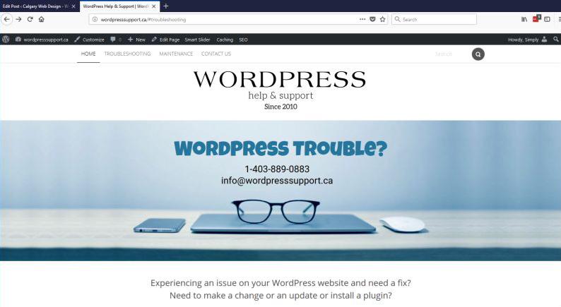 View WordPress Help & Support